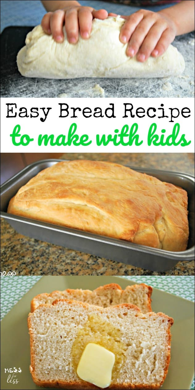This Easy Bread Recipe is perfect to make with kids. With just a hint of honey, it is sure to become a favorite!