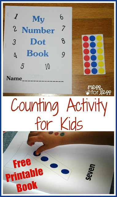 This free math printables number book is a great way to practice counting with kids. Print this out and have some fun counting!
