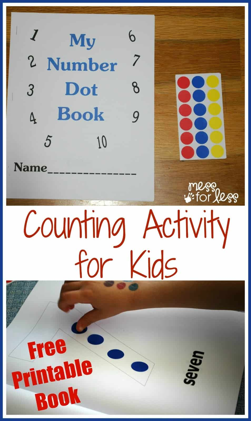 Free Math Printables Number Book - Mess for Less