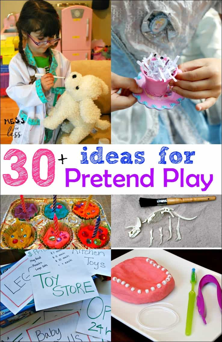 30 Pretend Play Ideas Mess For Less