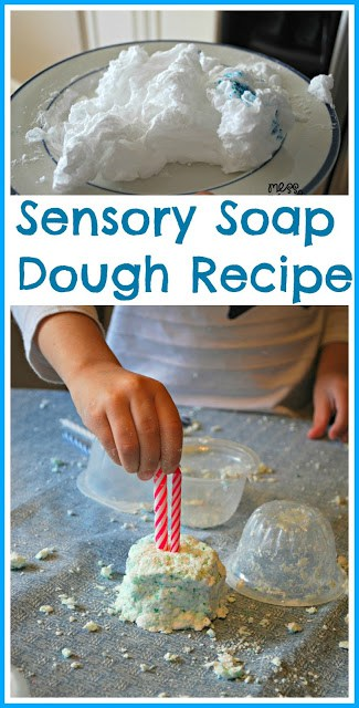Sensory Soap Dough Recipe - It's simple to create this fun soap dough and kids will have a BLAST playing with it! #kids #sensory