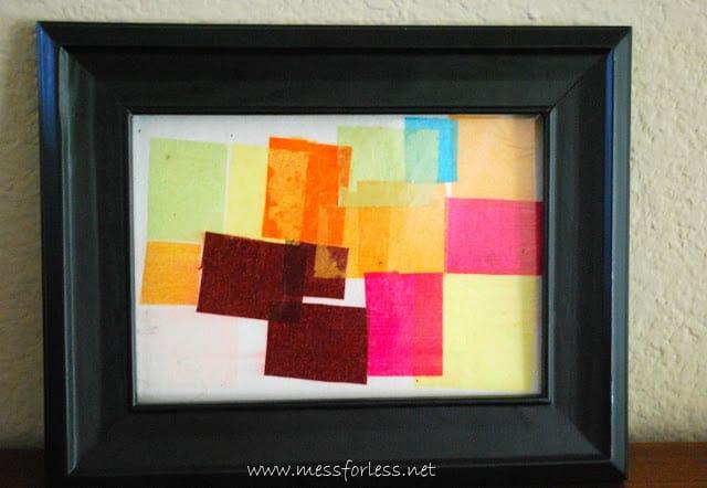 framed kids art