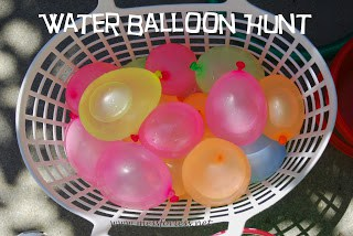 Water Balloon Hunt, #water-balloons, #kids, #play, #summer