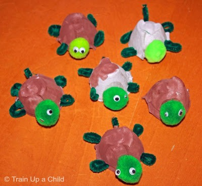 Egg Carton Turtle Craft From Train Up A Child