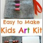 Crayon Roll – Kids Art Roll