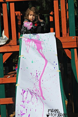 slide painting activity