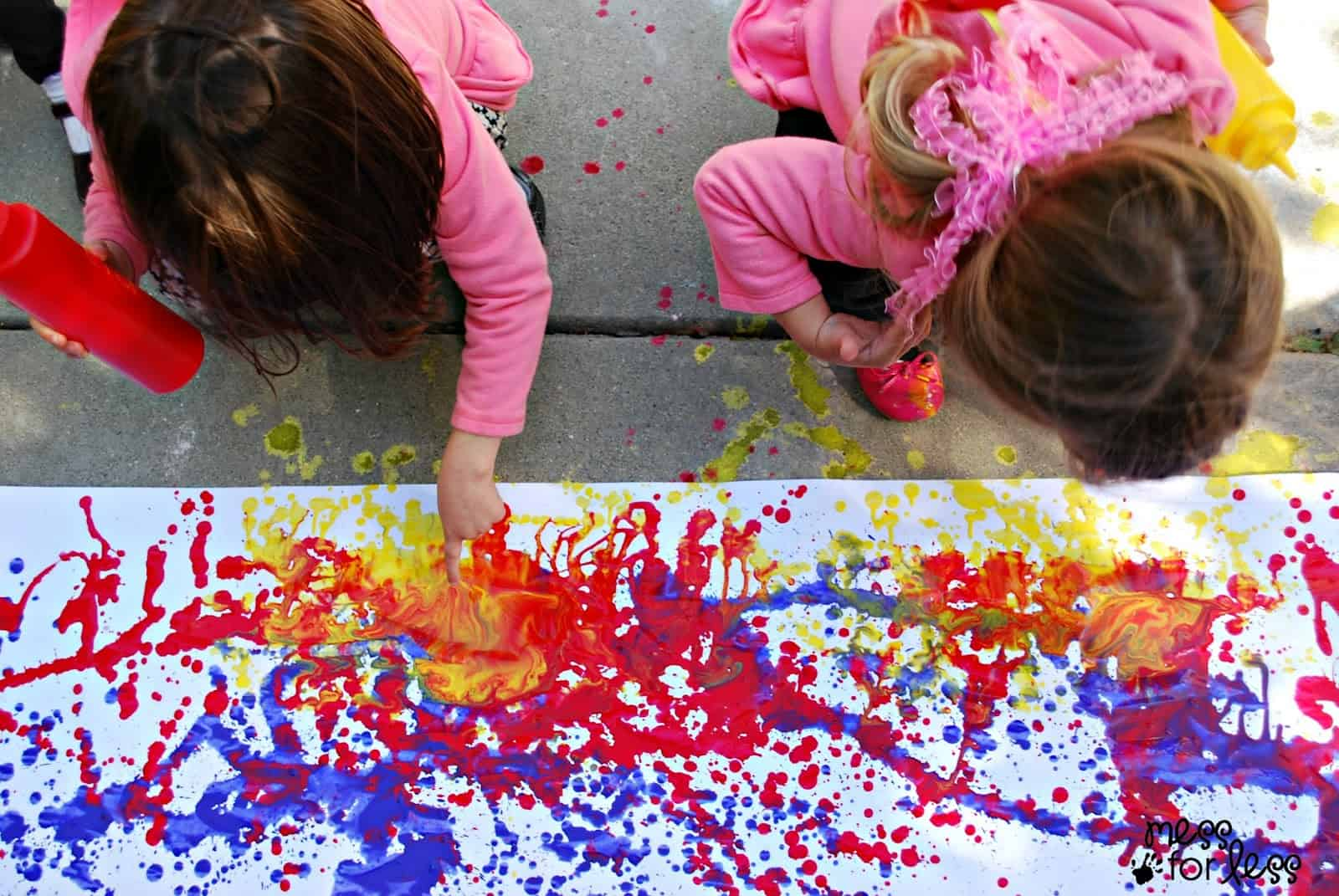 squirt painting for kids - Kids Painting Images