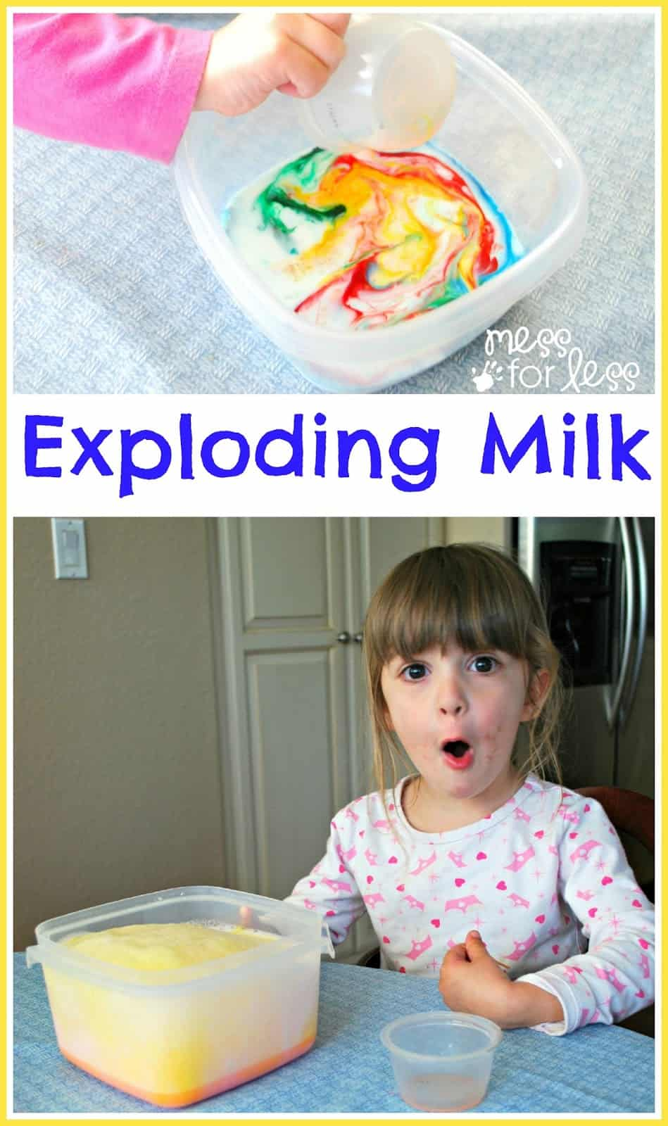 Exploding Milk Experiment - Mess for Less