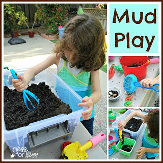 Mud Play - A great sensory and imaginative experience