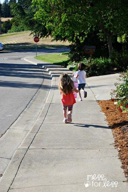 Neighborhood walk for kids