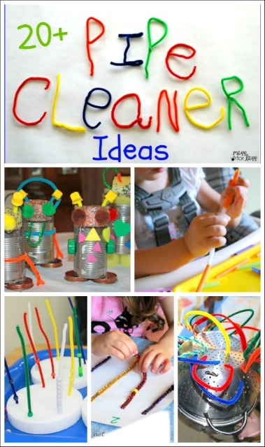 20 pipe cleaner crafts and activities mess for less for Arts and crafts sets for toddlers
