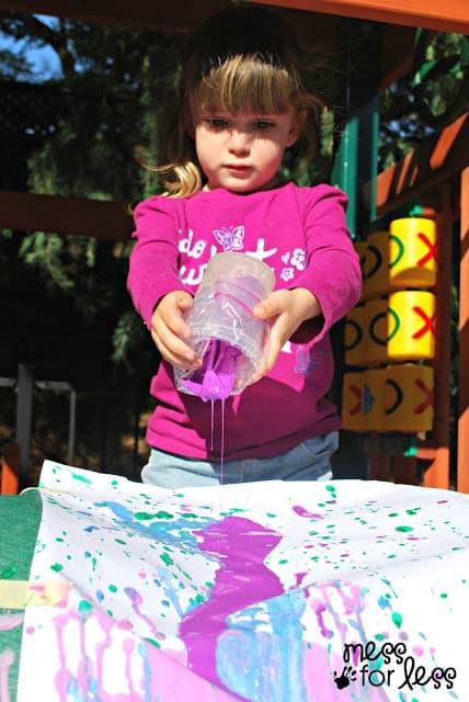 Slide painting art