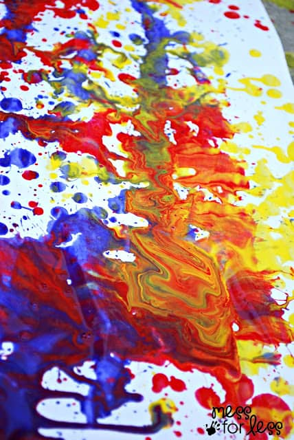 Color mixing swirls