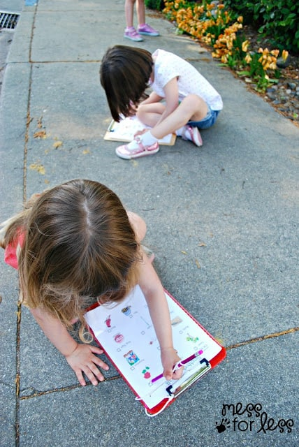 I Spy Neighborhood Walk with Free Printables