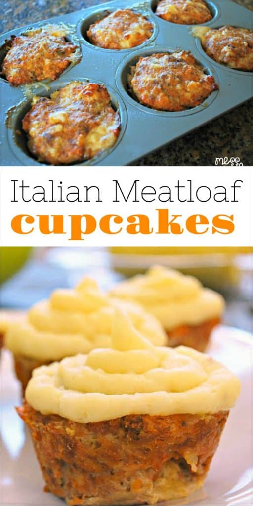 Italian Meatloaf Cupcake Recipe - The addition of mozzarella cheese makes these cupcakes cheesy and moist. Kids and adults will love them!