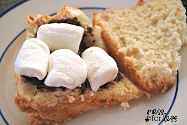 easy s'more angel food cake
