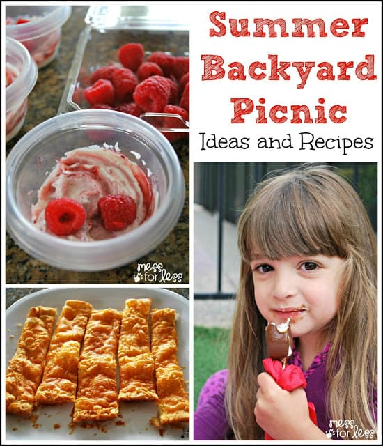 Create a backyard picnic for kids. Easy tips and recipes to enjoy a picnic at home. #shop #cbias #safeway #everydaydairy