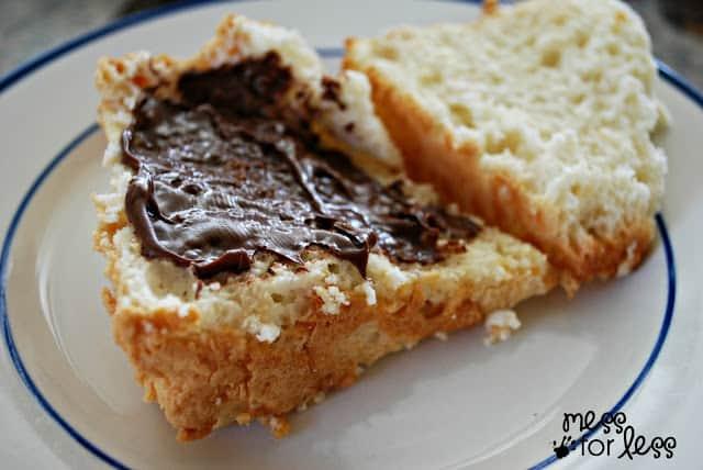how to make smores angel food cake