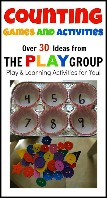 Over 30 counting games and activities for kids. Most use things you already have at home. Such fun ways to learn math!