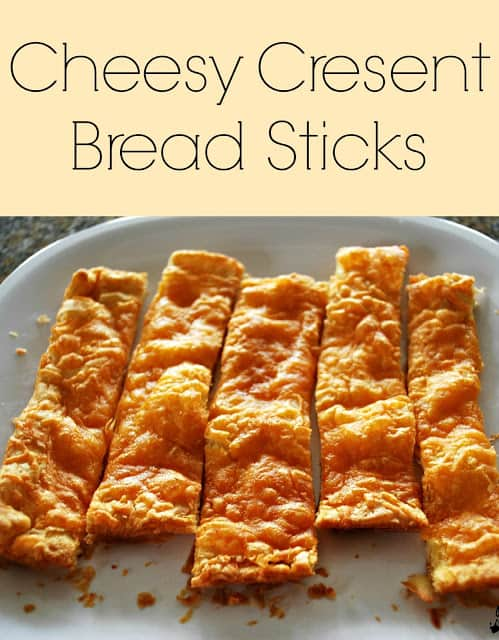 You won't believe how simple it is to make these cheesy crescent bread sticks. We could not eat just one. The cheesy flavor combined with the flaky crust is insane!