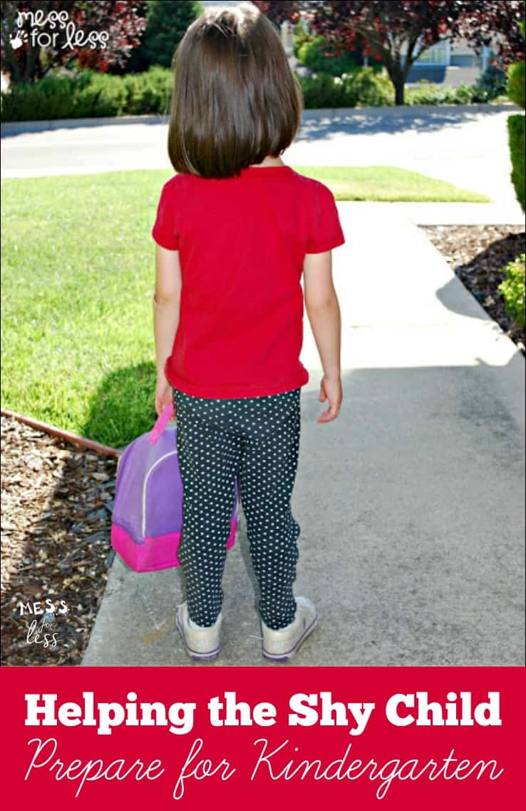Helping the Shy Child Prepare for Kindergarten  - Have a child starting Kindergarten? These tips will help all kids starting kindergarten but especially shy children.