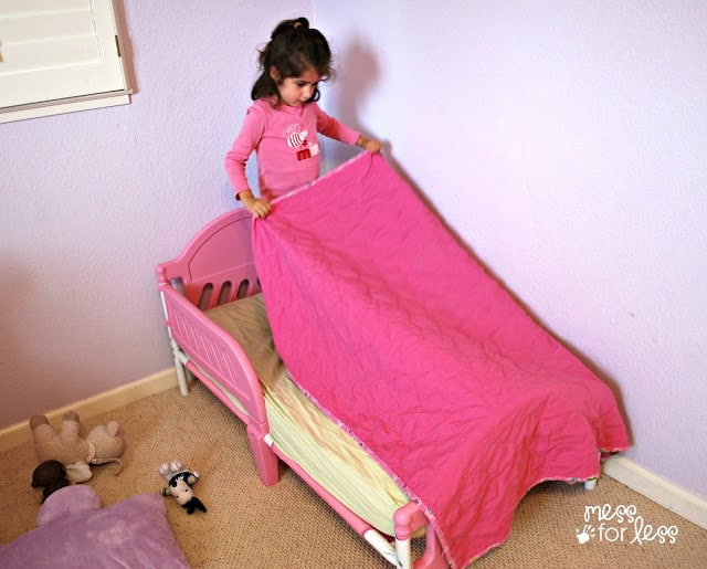 Making a bed