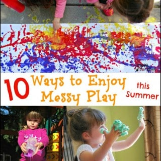 10 Ways to Enjoy Messy Play this Summer