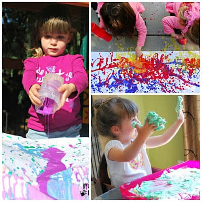 This list of messy play ideas will keep my kids busy all summer!