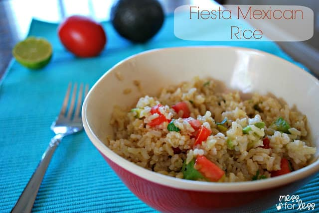 This Fiesta Mexican Rice is super easy to prepare thanks to #SuccessRice #ad