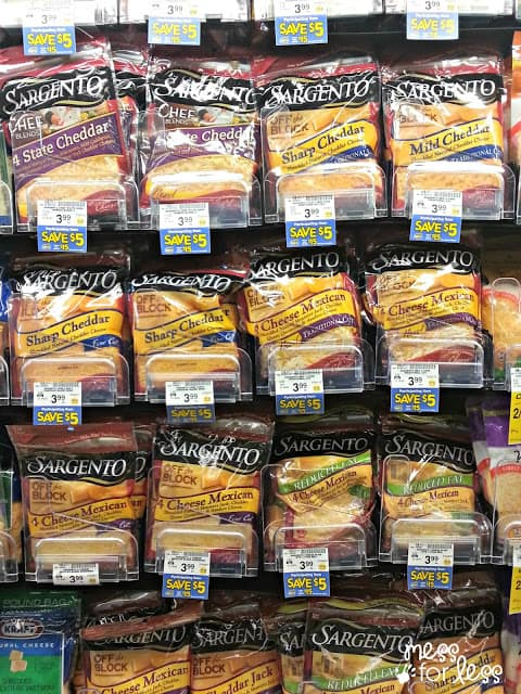 Safeway shopping for Sargento Shredded Cheese