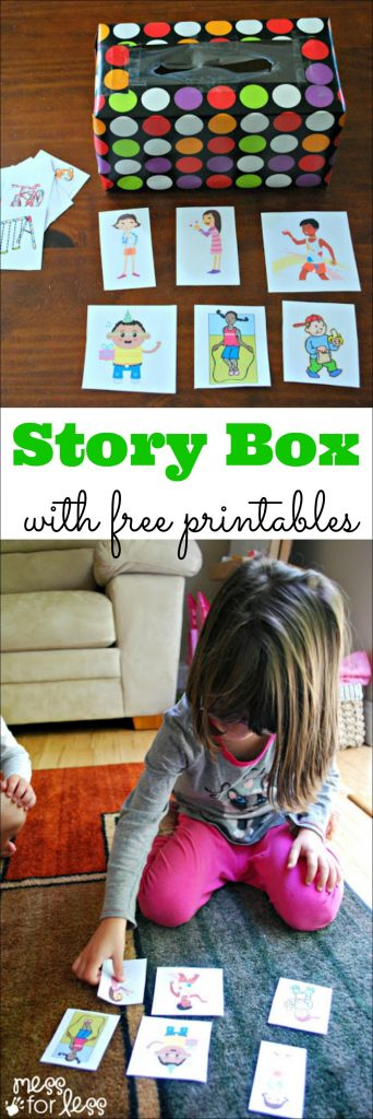 Kids can learn and have fun with this story box with free printables.