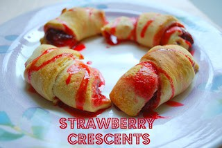 Strawberry Dessert Recipe, Strawberry Crescents