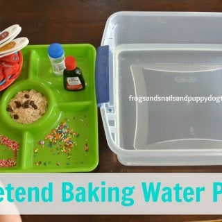 Pretend Baking Water Play