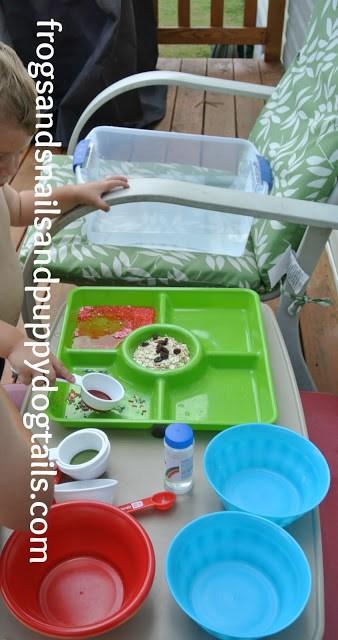 Pretend Baking Water Bin Play