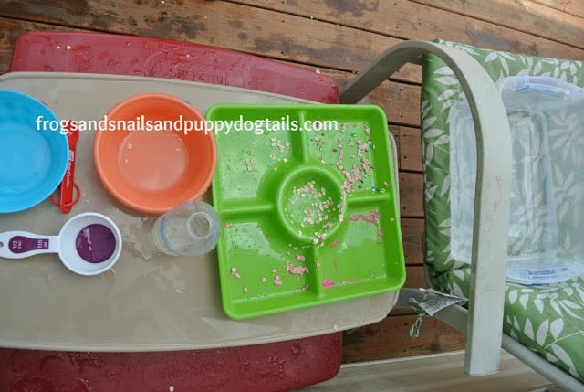 Pretend Baking Water Bin Play