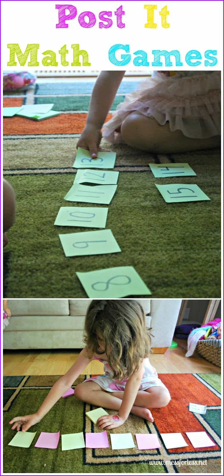 Post-It Math Games - Get Ready for K Through Play - Mess for Less