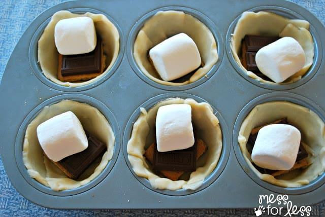 Making s'more desserts