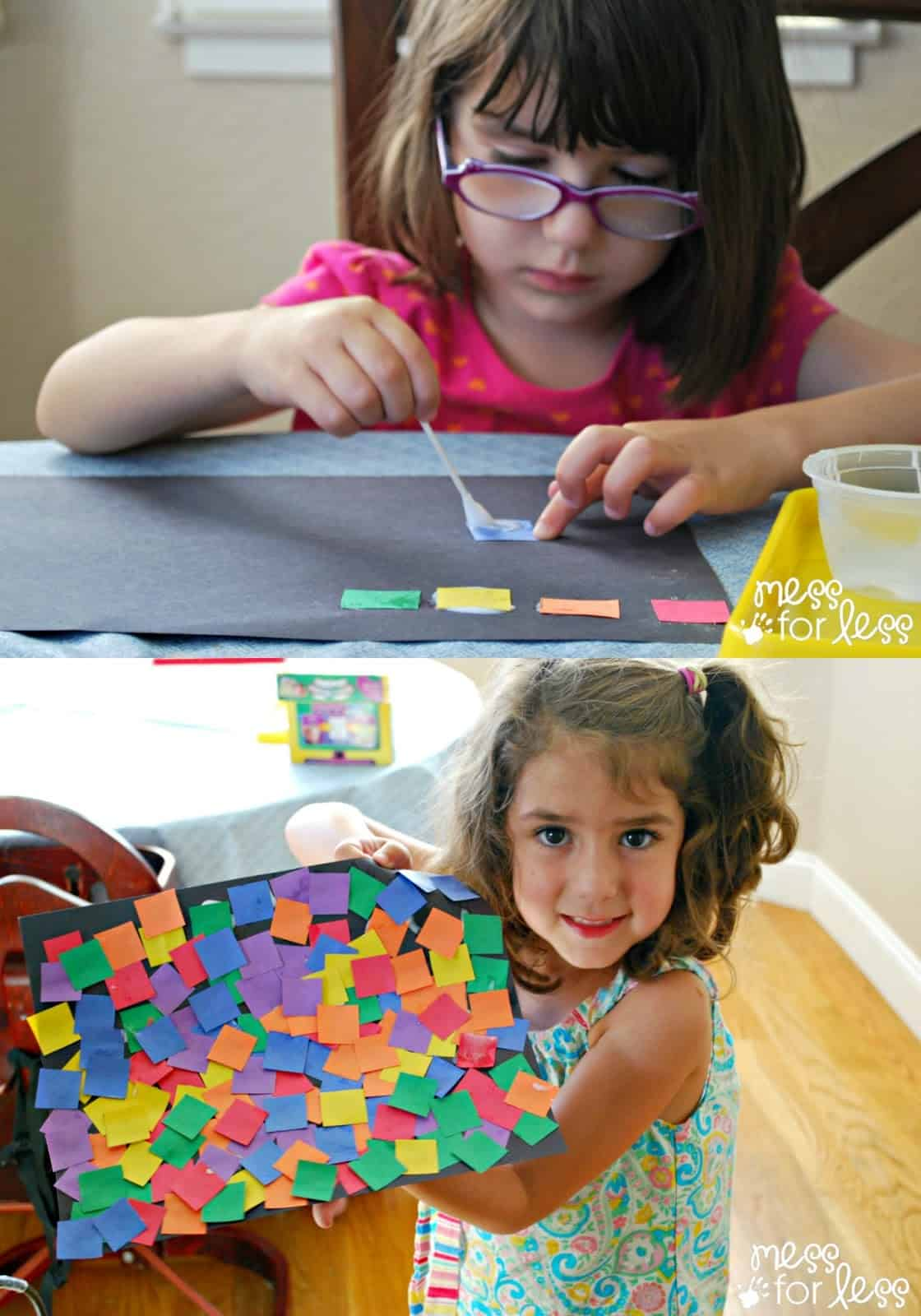 Art Activity: Square Collage - Mess for Less