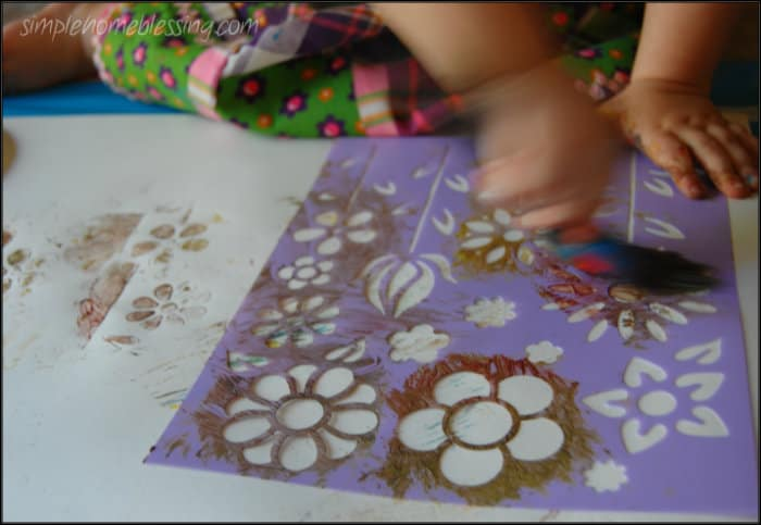 stencils with toddlers