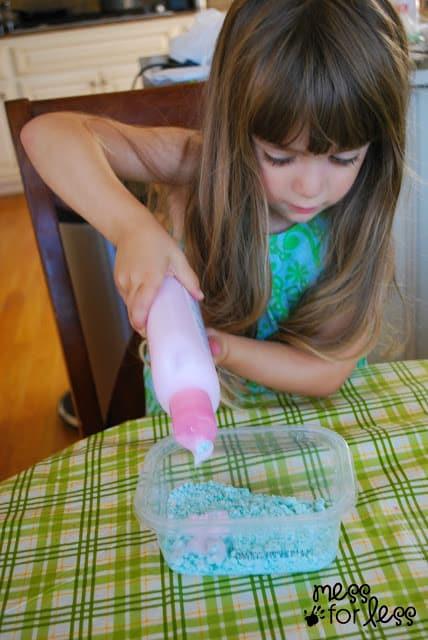making lotion dough