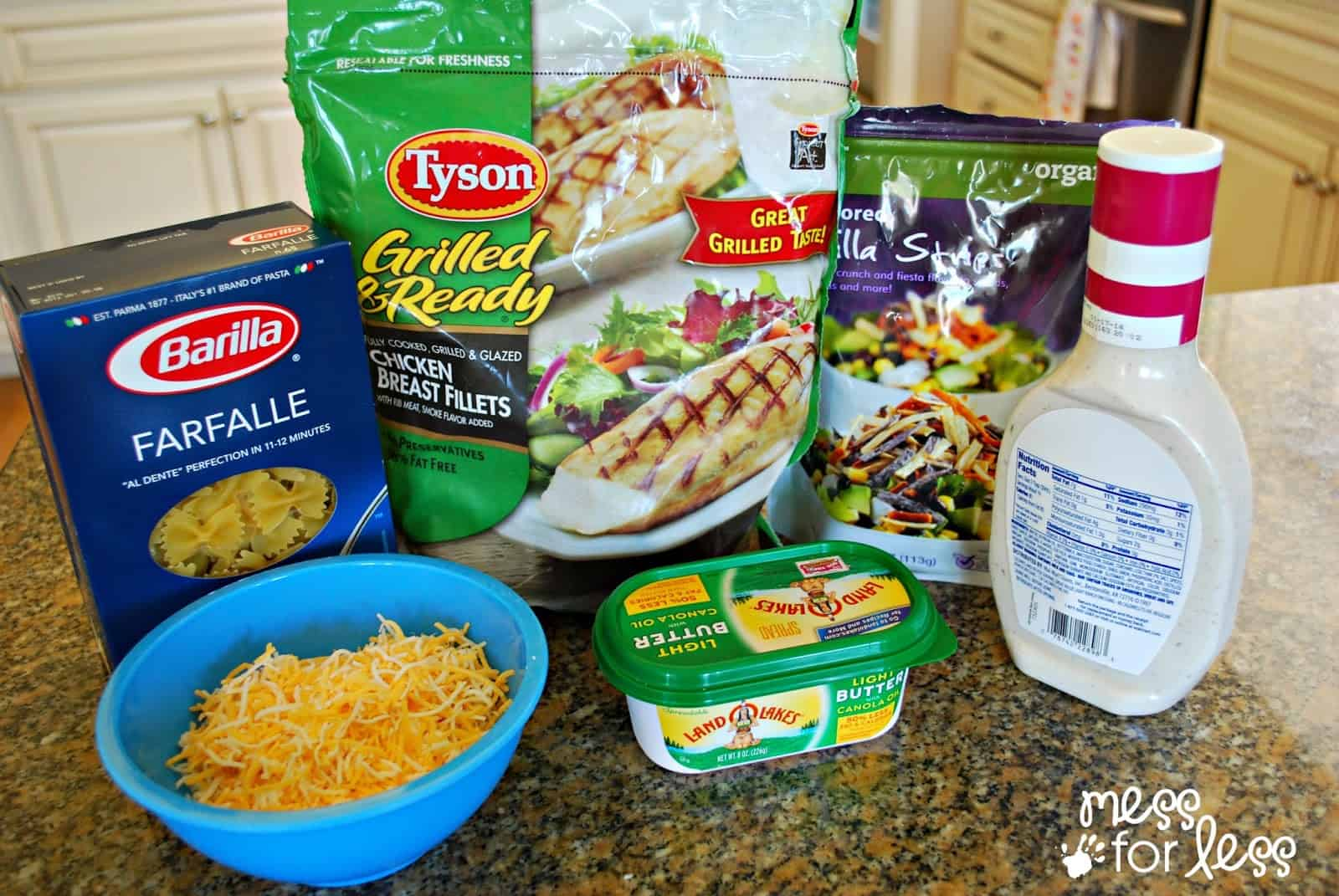 Ranch Chicken And Pasta Bake Mess For Less