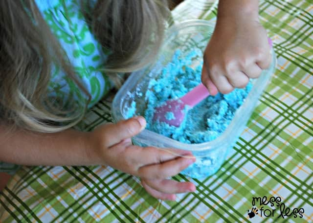 Mixing Lotion Dough
