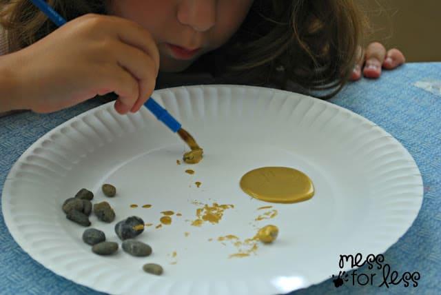 making gold rocks