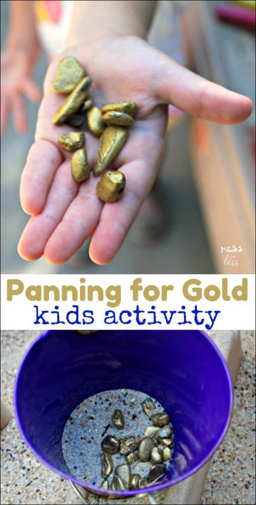 "Panning for Gold Activity - Kids will make their own ""gold"" and then sift to find their treasure."