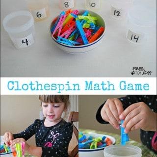 Clothespin Math – Preschool Math Activity