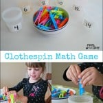 Clothespin Math – Preschool Math Activity