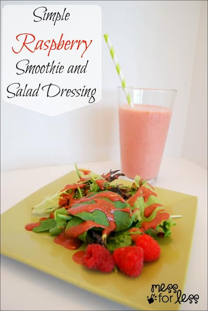 Simple Raspberry Smoothie and Salad Dressing - Promote Heart Health with these tasty recipes. #shop #Cbias #FreshFinds