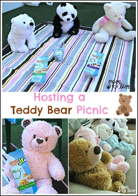 How to host a teddy bear picnic in your backyard. #cbias #CAMPAIGN #shop #LunchablesJr