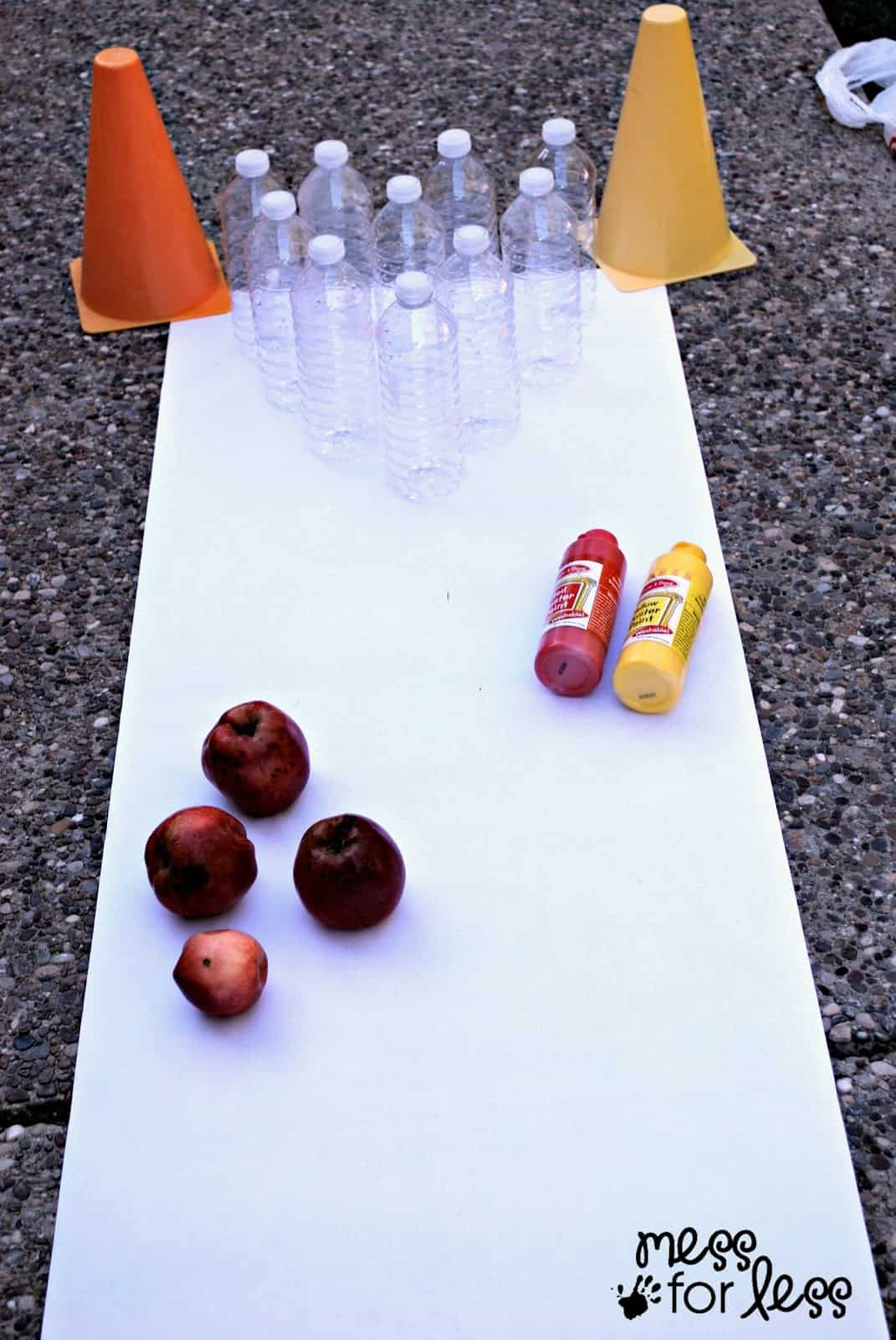 apple bowling art mess for less