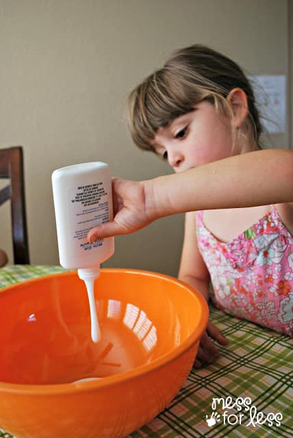 child making gak